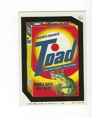1982/1985 Topps Wacky Packages IRISH Series #22 TOAD BUBBLE BATH ex+