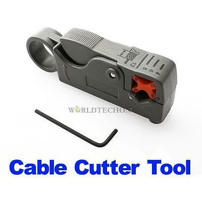 Rotary Coax Coaxial Cable Stripper Cutter Tool for RG58 RG6 RG59 Lead WT7n