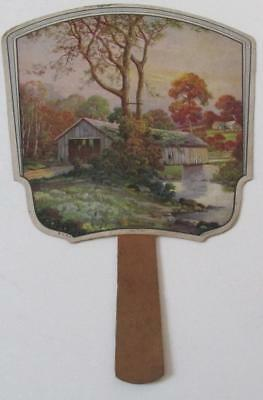 Vintage Justrite Bread And Cakes Cardboard Fan Made In Usa