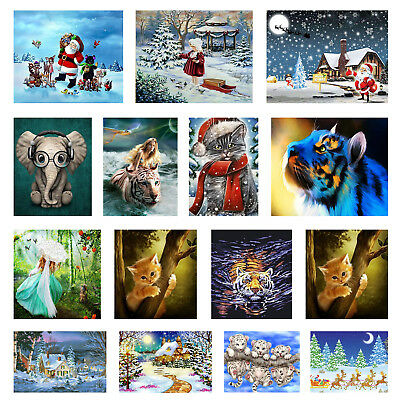 DIY 5D Diamond Painting Embroidery Cross Crafts Stitch Kit Christmas Home Decor