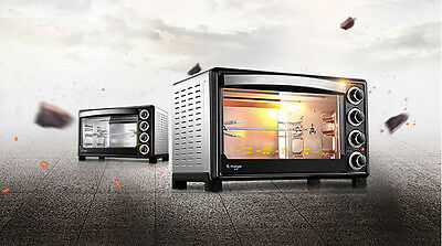 32L Home Commercial Silver Multi-function Baking Tool Benchtop Electric Oven #