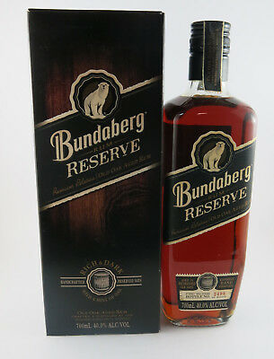 BUNDABERG RUM RESERVE BOXED BUNDY RUM NO 2498 out of only 5000 numbered