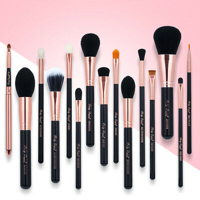 15pcs Pro Makeup Brushes Set Powder Eyeliner Lip pencil Brush Tool Rose Gold