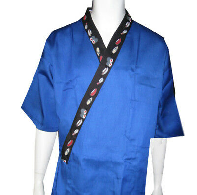 Size L, Sushi prints on Collar sushi chef coat, sushi server happi coat, NEW
