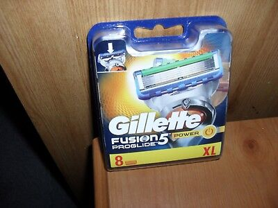 Gillette-Fusion Proglide 5 With 8 Blades XL Brand New and Sealed...