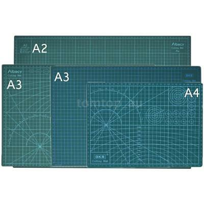 A2 A3 A4 PVC Self Healing Rotary Cutting Mat Craft Board Scrapbooking Green L8P9