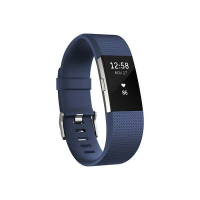 Brand New Fitbit Charge 2 Heart Rate And Fitness Wristband Large Blue