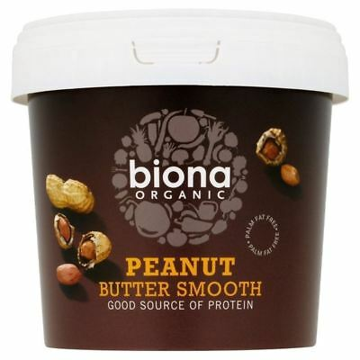 Biona Organic Peanut Butter Smooth 1kg - Pack of 2