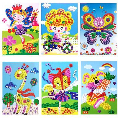 3D Crysta Mosaic Sticker Colorful Painting Art Craft Kit Childrens Kids DIY Toy