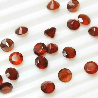 Lot of 3mm to 9mm Round Facet Natural Hessonite Garnet Loose Calibrated Gemstone