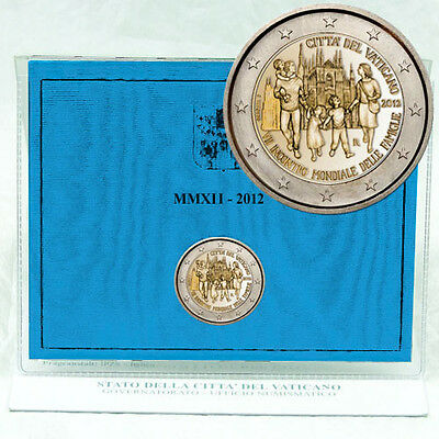 """Commemorative Coin Vatican Benedict """" Vii. World Meeting on the Family """" 2012"""