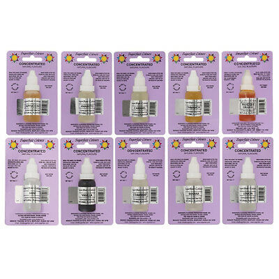 10 x Sugarflair Concentrated Natural Flavour Drops for Cakes Icing and Cookies