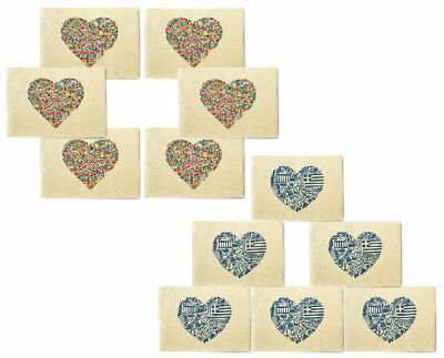 Country Heart Printed Canvas Placemats 13x19 Inch Set of 6