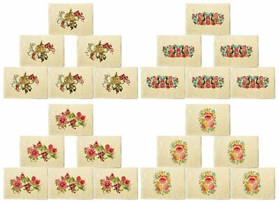 Birds & Flowers Printed Canvas Placemats 13x19 Inch Set of 6