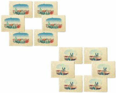 Czech Republic Printed Canvas Placemats 13x19 Inch Set of 6