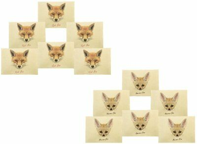 Face Of Fox Printed Canvas Placemats 13x19 Inch Set of 6