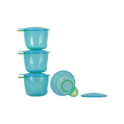 Vital Baby Prep And Go Food Pots, Blue 4 per pack - Pack of 4