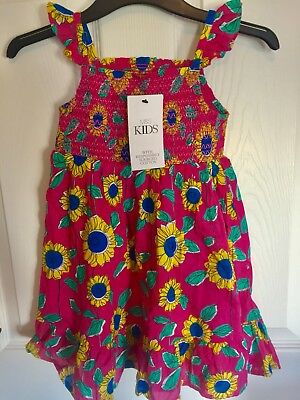 BNWT Marks & Spencer Toddler Girl Pink Floral Sun Dress 2-3 Years