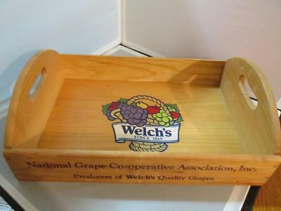Welch's Grape Co-Op Association Wood Handled Tray--Colored Logo