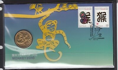 CHRISTMAS ISLAND 2016 Year of the Monkey PNC in Perfect Condition