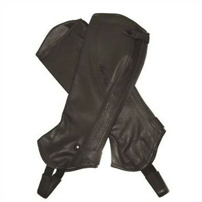 Mark Todd Half Chaps Close Fit Soft Leather Short Brown - Small
