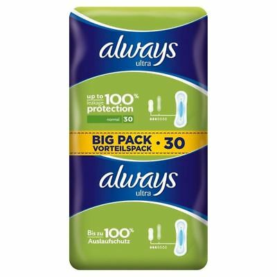 Always Ultra Normal Sanitary Towels 2 x 15 per pack (PACK OF 4)