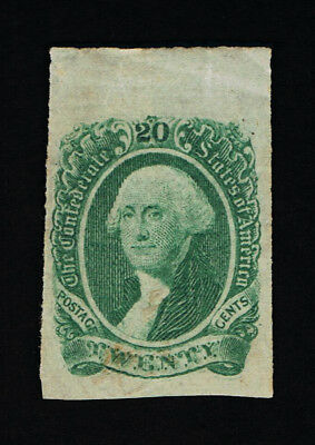 Genuine Confederate Csa Scott #13 Green 20¢ Archer & Daly 1863 Engraved Mint Og