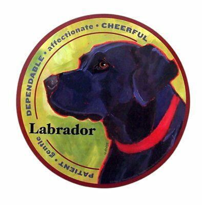 Mad Dogs Labrador Dog Breed Magnet Decals for Cars, Office, or Refrigerator