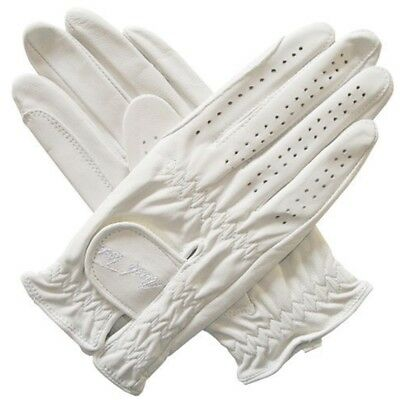 Mark Todd Show Leather Riding Glove - White, X-large - Gloves Riding Adult