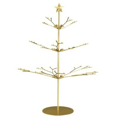 Old World Christmas Gold Metal Ornament Display Tree with Star 14358 16.75 Inch