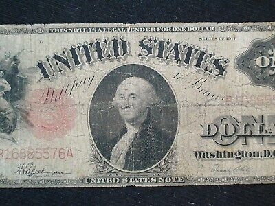 Series 1917  $1 Dollar Large Red Seal United States Note Speelman / White