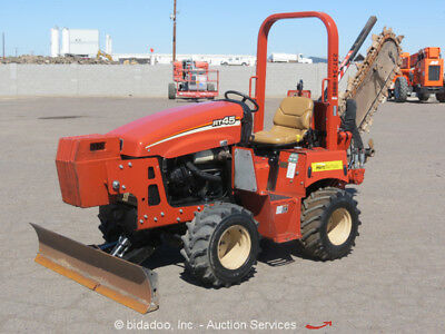 2012 Ditch Witch RT45 4x4 Ride-On Trencher Backfill Blade Side Shift bidadoo
