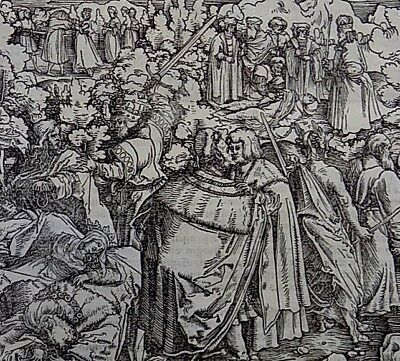 1532 Master of Petrach Hans Weiditz 2 woodcuts - Importance of Friendship Advice