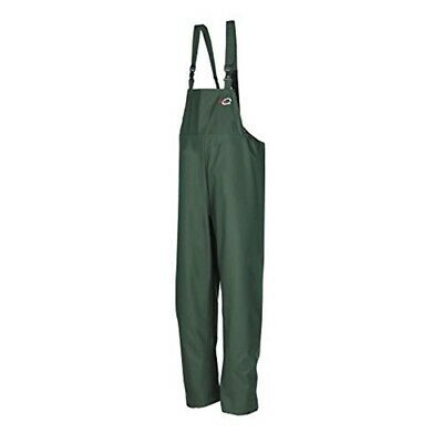 Flexothane Classic Louisiana Bib & Brace Olive Green Large - Waterproof Trousers