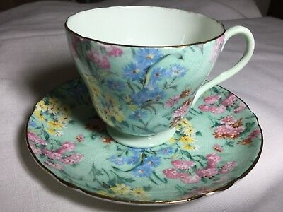 Shelley Bone China Cup/saucer England        Melody Pattern