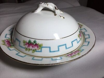 Shelley Castle China Covered Butter Dish England