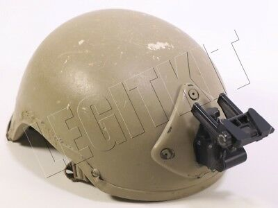MODIFIED MICH TC2000 Helmet High Cut MEDIUM w/Norotos 3 Hole Mount & Arm SEAL