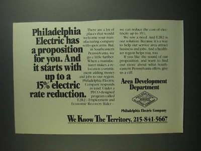 1984 Philadelphia Electric Company Ad - A Proposition