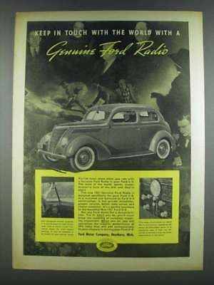 1937 Ford Radio Ad - Keep in Touch with the World