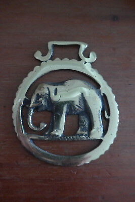 Vintage/Antique Horse Brass of an Elephant - Made in England