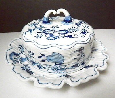 Meissen BLUE ONION Covered Butter Tub/Dish, Crossed Swords
