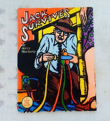 JACK SURVIVES by JERRY MORIARTY - A RAW ONE SHOT #3. 1984, 1ST ED. FOLIO