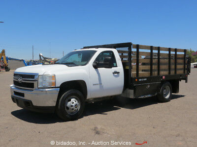 2011 Chevrolet Silverado 3500HD 12' Flatbed / Stakebed Truck 6.0L V8 Lift Gate