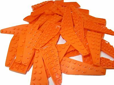 LEGO Orange Wedge Plate 12x3 Right Lot of 25 Parts Pieces 47398