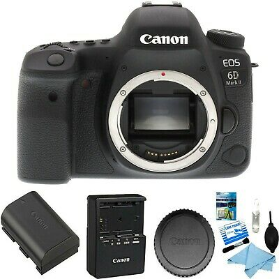 Canon EOS 6D Mark II DSLR Camera (Body Only) Brand New w/ Cleaning kit