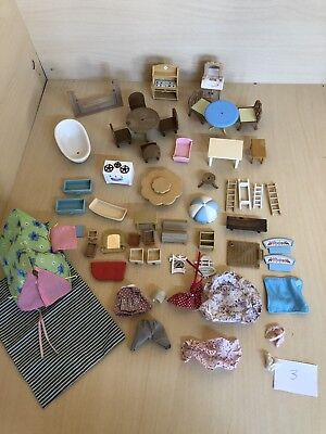 Sylvanian Families large bundle of furniture and accessories. Calico Critters