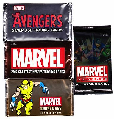 MARVEL RITTENHOUSE PACKS--Single Sealed Packs From 3 Different Sets/ NO Sketch^^