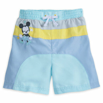 Disney Store Mickey Mouse Swim Trunks for Baby 50+ UV Size 12 18 24 Months New