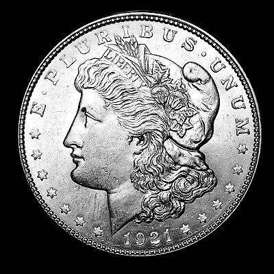 1921 D ~**ABOUT UNCIRCULATED AU++**~ Silver Morgan Dollar Rare US Old Coin! #K82