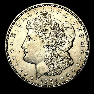 1921 D ~**ABOUT UNCIRCULATED AU**~ Silver Morgan Dollar Rare US Old Coin! #K83
